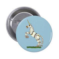 Mechanical Unicorn Pinback Button