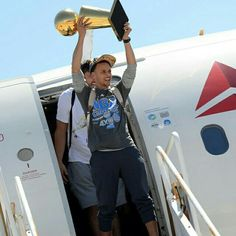 Nothing like arriving home a champion!