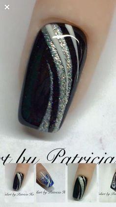 Autumn nails black glitter nails Nails The Portable Perennial Garden gardens, gardening, container g Black Nail Designs, Colorful Nail Designs, Nail Art Designs, Nails Design, Stylish Nails, Trendy Nails, Cute Nails, Fabulous Nails, Gorgeous Nails