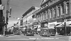 1947 ~ George Street Peterborough Ontario, Decorating Ideas, Street View, Canada, Vintage, Vintage Comics