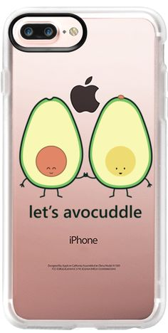 Casetify iPhone 7 Plus Case and other Sneaky Snacks iPhone Covers - Let's Avocuddle by Queenie's Card | Casetify