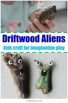 Driftwood Aliens - Crafts on Sea