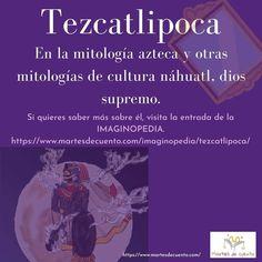 Tezcatlipoca, «espejo humeante», un gran dios del que puedes saber más visitando la #IMAGINOPEDIA de @MartesdeCuento Pandora, Book Of Life, Tuesday