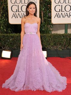 Olivia Wilde in Reem Acra for 2009 Golden Globes. From Reem Acra Spring 2008 Bridal Award Show Dresses, Oscar Dresses, Evening Dresses, Olivia Wilde, Evolution Of Fashion, Red Carpet Gowns, Celebrity Red Carpet, Celebrity Gowns, Celebrity Style