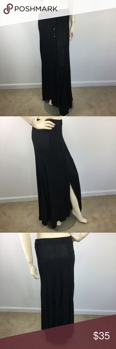 UO Ecote Button Down Split Maxi Skirt Medium CONDITION:  Gently used,no flaws. MATERIAL:  STYLE: CARE: MEASUREMENTS: (Please note that the measurements are approximate) ALL MEASUREMENTS ARE TAKEN WITH GARMENT LYING FLAT: WAIST: HIPS: LENGHT: Urban Outfitters Skirts Maxi