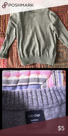Toddler Boy sweater Lightweight grey sweater only worn twice Gap  Shirts & Tops Sweaters