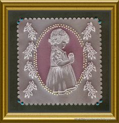 """Handcrafted Parchment Craft - 8X8"""" Wall Decoration"""