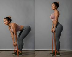 standing deadlift booty workout resistance bands