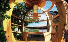 Arquitetos criam casa na árvore em formato de maçã