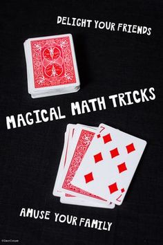 TEACH YOUR CHILD TO READ - These magic tricks teach kids just how much fun math can be - card trick, mind reading and passing yourself through a piece of paper - Super Effective Program Teaches Children Of All Ages To Read. Math Magic Tricks, Mental Math Tricks, Magic Tricks For Kids, Maths Tricks, Best Magic Tricks, Multiplication Tricks, Science Tricks, Card Tricks For Kids, Easy Card Tricks
