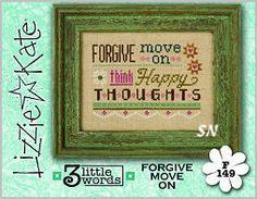 Lizzie Kate's 3 Little Words F149 Forgive Move On Card