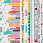 Greta Lynn The Big Apple Skyline Multi [BT-5856-99] - $10.45 : Pink Chalk Fabrics is your online source for modern quilting cottons and sewing patterns., Cloth, Pattern + Tool for Modern Sewists
