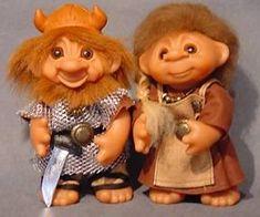 Old Trolls and dolls - www.damworld.dk viking boy and girl 2004 damdolls/ good luck troll dolls