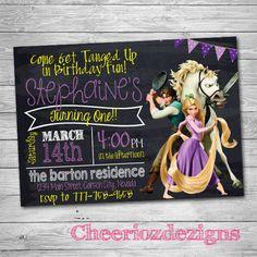 Invitación enredados  Rapunzel invitación  por CheeriozDezigns