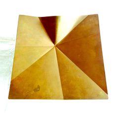 Origami Brass Tray by Fairthorne Studios Canada by FoundOfYou Menlo Park, Origami, Studios, Tray, Canada, Handmade, Hand Made, Paper Folding, Studio