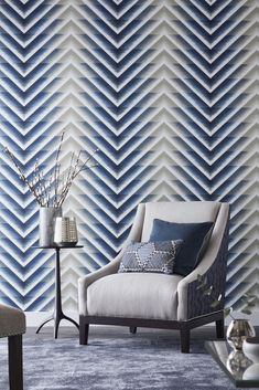 Such a stunningly smart wallpaper design by Harlequin.