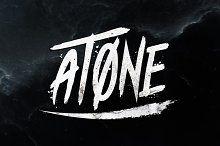 Atone - Brush Font