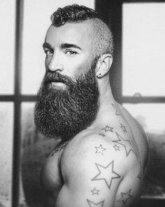 Great Beards, Awesome Beards, Beard Styles For Men, Hair And Beard Styles, Moustaches, Barba Grande, Stammestattoo Designs, Epic Beard, Sexy Beard