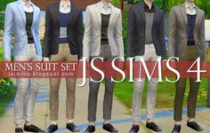 Men's Suit Separates for Teen & Adults by JS Sims 4 Js Sims 4, Sims Four, My Sims, Men's Suit Separates, Sims 4 Blog, Sims4 Clothes, Sims 4 Clothing, Plaid Pants, Cool Suits
