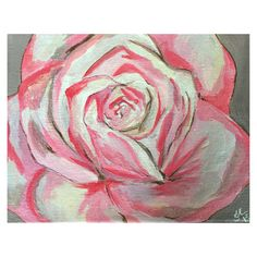 Gotta love roses! I sure do. Ive created a single pink rose painting that would look great in a living room, bedroom or well any place youd
