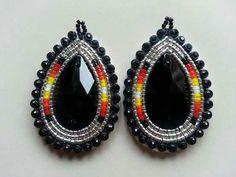 saved Beaded Earrings Native, Beaded Earrings Patterns, Native Beadwork, Seed Bead Earrings, Beaded Jewelry, Native Beading Patterns, Beadwork Designs, Native American Earrings, Native American Beadwork