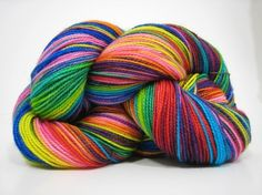 Piper sock yarn, superwash merino 2 ply fingering weight yarn, hand dyed, 450 yards - A Beautiful Butterfly