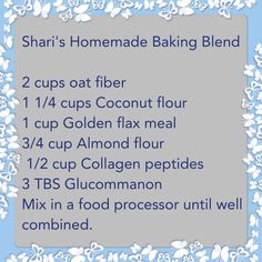 Homemade Baking Blend for THM S, E and FP. Interesting with the collagen peptides. Trim Healthy Recipes, Thm Recipes, Protein Recipes, Low Carb Flour, Low Carb Bread, Keto Flour, Baking Blend Recipe, Trim Healthy Mama Book, Thm Diet