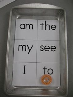 Spin the top to see where it lands, and then graph those sight words as they come up on a recording sheet.