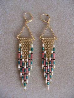 Seed Bead Earrings Modern Native American Style by pattimacs, $16.50
