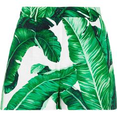 Dolce & Gabbana Printed cotton and silk-blend brocade shorts ($810) ❤ liked on Polyvore featuring shorts, skirts, bottoms, pants, green, brocade shorts, zipper shorts, high-waisted shorts, green shorts and green high waisted shorts