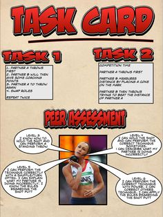 Shot Putt task card Health Education, Physical Education, Gcse Pe, Pe Lessons, Pe Class, Pe Ideas, Shot Put, Kids Fitness, Pe Games