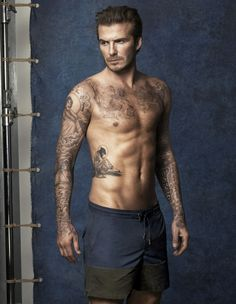 David Beckham's Hot Shirtless Body is on Display for New H&M Bodywear Swimwear Collection! David Beckham's shirtless body is on full display in these brand new images for his brand new swimwear for the H&M David Beckham Bodywear range. David Beckham Tattoos, Tatuajes David Beckham, David Beckham Shirtless, David Beckham Body, Shirtless Men, David Beckam, Victoria Beckham, H M Swimwear, Stephen James