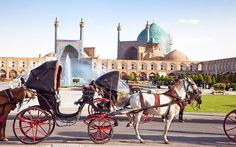"""Imam Square, Isfahan Robert Byron, the travel writer, in The Road toOxiana, wrote that, """"Isfahan [is] among those rarer places, like Athens or Rome, which are the common refreshment of humanity"""". The city, which was once the capital of Persia, holds the mighty 60m x 508m Imam Square, bounded by the Sheikh Lotfollah Mosque, the Shah Mosque, the Ali Qapu Palace and the Isfahan Grand Bazaar (one of the best places in the country to buy Persian rugs)."""