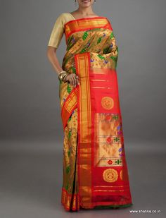 Damini Full Brocade Wedding Collection #PureZariPaithaniSilkSaree