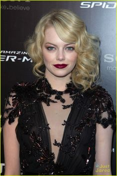 emma stone at spiderman paris premiere