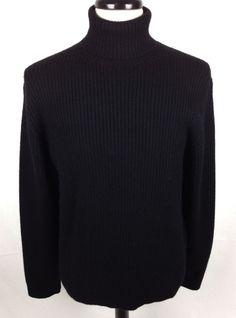 Ralph Lauren Sweater Mens Black Wool Long Sleeve Turtleneck L  #RalphLauren #Turtleneck