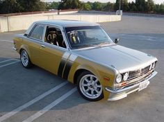 1970 Datsun 510.... my grandma left me one of these beauties... all white with baby blue interior... couldn't wait to drive that car!!