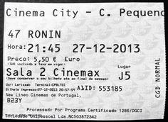 "Cinema: ""47 Ronin"" (47 Ronin) @ Cinema City, Campo Pequeno, Lisboa, a 27 de Dezembro de 2013.   IMDB: http://www.imdb.com/title/tt1335975/"