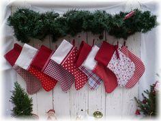 Weihnachtsstiefel aus Stoff zum Befüllen