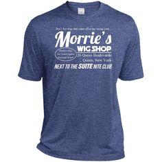 Morrie's Wig Shop Tee Shirt-01 ST360 Sport-Tek Heather Dri-Fit Moisture-Wicking T-Shirt