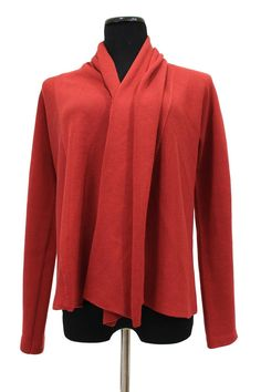 Eileen Fisher Open Front Silk Blend Cardigan Sweater Size PS