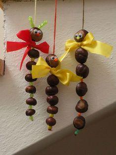 15 decorazioni invernali da realizzare con le castagne! Ispiratevi... Easy Fall Crafts, Fall Crafts For Kids, Toddler Crafts, Preschool Crafts, Diy For Kids, Diy And Crafts, Kids Crafts, Leaf Crafts, Yarn Crafts