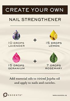 Nail strengthener recipe with essential oils.