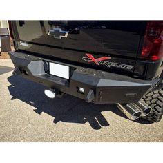 Addictive Desert Designs Chevy Silverado 2500 HoneyBadger Rear Bumper w/ Backup Sensor Cutout, White 2017 Chevy 2500, Chevrolet Silverado 2500, Lifted Chevy, Chevy Trucks, Jeep Parts, Truck Parts, Jetta Mk1, Mitsubishi L200, Nissan