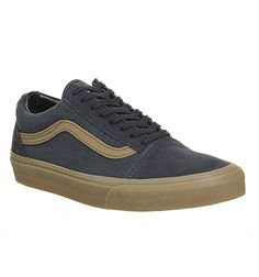 navy gum old skool vans
