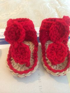Crochet baby sandals size 0-3.3-6,6-9 on Etsy, $10.00