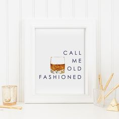 The Call Me Old Fashioned print is a Katie Kime best-seller. Add it to your gallery wall or give the perfect gift to your favorite cocktail aficionado.Also avai