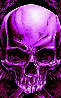 purpura skull dark