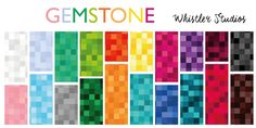 Gemstone Fat Quarter Bundle by Windham Fabrics 20 Stone, Windham Fabrics, Cotton Quilting Fabric, Whistler, Studios, Presents, Bear, Quilts, Gemstones