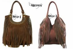 Cowgirl Outfits, Cowgirl Style, Western Style, Purses And Handbags, Leather Handbags, Leather Bags, Bohemian Accessories, Handbag Accessories, Fringe Crossbody Bag